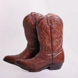 Boulet Leather Cowboy Boots